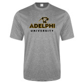 Performance Grey Heather Contender Tee-Panther Head Adelphi University