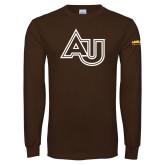 Brown Long Sleeve T Shirt-AU
