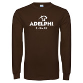 Brown Long Sleeve T Shirt-Alumni