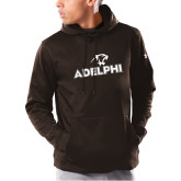 Under Armour Brown Armour Fleece Hoodie-Adelphi with Panther Head