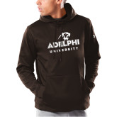 Under Armour Brown Armour Fleece Hoodie-Panther Head Adelphi University
