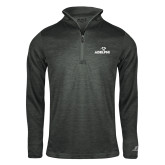Russell Charcoal Heather 1/4 Zip-Adelphi with Panther Head