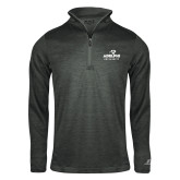 Russell Charcoal Heather 1/4 Zip-Panther Head Adelphi University