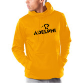 Under Armour Gold Armour Fleece Hoodie-Adelphi with Panther Head