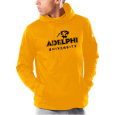 Under Armour Gold Armour Fleece Hoodie-Panther Head Adelphi University