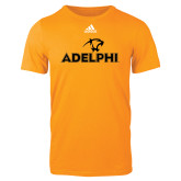 Adidas Gold Logo T Shirt-Adelphi with Panther Head