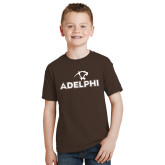 Youth Brown T Shirt-Adelphi with Panther Head