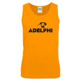 Gold Tank Top-Adelphi with Panther Head