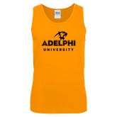 Gold Tank Top-Panther Head Adelphi University