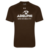 Under Armour Brown Tech Tee-Panther Head Adelphi University