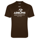 Under Armour Brown Tech Tee-Panther Head Adelphi University New York