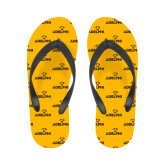 Ladies Full Color Flip Flops-Adelphi with Panther Head