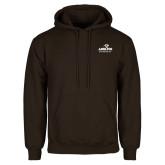 Brown Fleece Hoodie-Panther Head Adelphi University