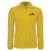 Fleece Full Zip Gold Jacket-Adelphi with Panther Head