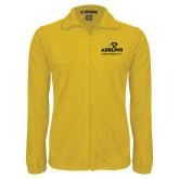 Fleece Full Zip Gold Jacket-Panther Head Adelphi University