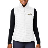 Columbia Lake 22 Ladies White Vest-Panther Head Adelphi University
