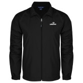 Full Zip Black Wind Jacket-Adelphi with Panther Head