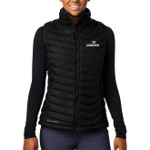Columbia Lake 22 Ladies Black Vest-Adelphi with Panther Head