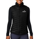 Columbia Lake 22 Ladies Black Vest-Panther Head Adelphi University