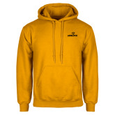 Gold Fleece Hoodie-Adelphi with Panther Head