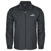 Full Zip Charcoal Wind Jacket-Adelphi with Panther Head