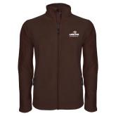 Fleece Full Zip Brown Jacket-Panther Head Adelphi University