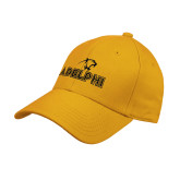 Gold Heavyweight Twill Pro Style Hat-Adelphi with Panther Head