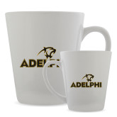 Full Color Latte Mug 12oz-Adelphi with Panther Head