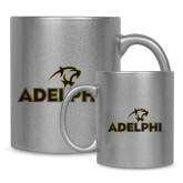 Full Color Silver Metallic Mug 11oz-Adelphi with Panther Head