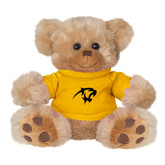 Plush Big Paw 8 1/2 inch Brown Bear w/Gold Shirt-Panther Head