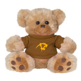 Plush Big Paw 8 1/2 inch Brown Bear w/Brown Shirt-Panther Head