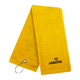 Gold Golf Towel-Adelphi with Panther Head