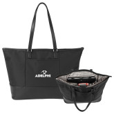 Stella Black Computer Tote-Adelphi with Panther Head