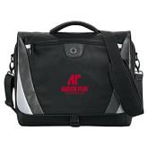 Slope Black/Grey Compu Messenger Bag-AP Austin Peay Governors - Official Athletic Logo