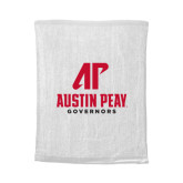 White Rally Towel-AP Austin Peay Governors - Official Athletic Logo