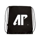 Nylon Black Drawstring Backpack-AP
