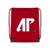 Nylon Red Drawstring Backpack-AP