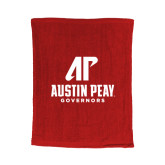 Red Rally Towel-AP Austin Peay Governors - Official Athletic Logo