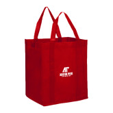 Non Woven Red Grocery Tote-AP Austin Peay Governors - Official Athletic Logo