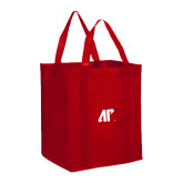 Non Woven Red Grocery Tote-AP