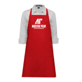 Full Length Red Apron-AP Austin Peay Governors - Official Athletic Logo