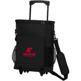 30 Can Black Rolling Cooler Bag-AP Austin Peay Governors - Official Athletic Logo