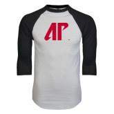 White/Black Raglan Baseball T-Shirt-AP