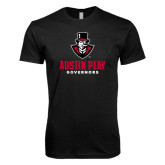 Next Level SoftStyle Black T Shirt-Governor Austin Peay Governors