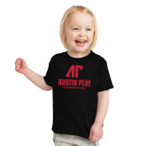 Toddler Black T Shirt-AP Austin Peay Governors - Official Athletic Logo