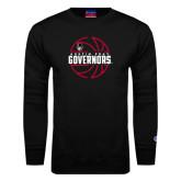 Black Fleece Crew-Basketball Design
