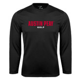 Syntrel Performance Black Longsleeve Shirt-Golf