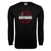 Black Long Sleeve TShirt-Basketball Design