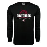 Black Long Sleeve TShirt-Volleyball Design