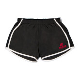 Ladies Black/White Team Short-AP Austin Peay Governors - Official Athletic Logo